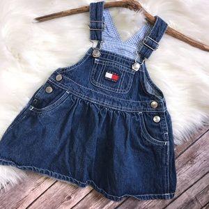 Vtg 90's Baby Girl Tommy Hilfiger Denim Dress